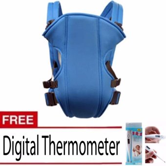 Adjustable Straps Baby Carriers model#108(Light Blue)With FreeDigital Thermometer (White)
