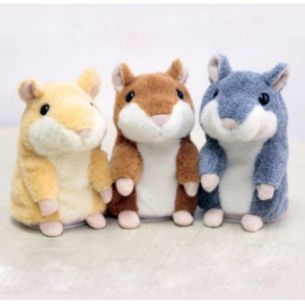 Adorable Toy Mimicry Pet Speak Talking Record Hamster Mouse Plush Kids Toy - intl