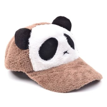 Adult Panda Baseball Caps (Brown)