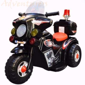Adventurers Rechargeable Motor Bike Kids Ride-on Toys Police Motorcycle (Black)