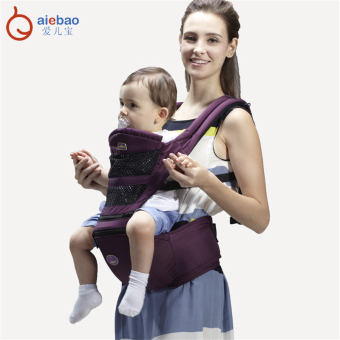 AIEBAO 4 in 1 Multifunctional Baby Carrier Waist Belt Infant HipSeat Purple - intl