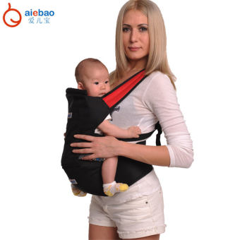 AIEBAO Baby Carrier Waist Belt Infant Hip Seat(Black) - intl