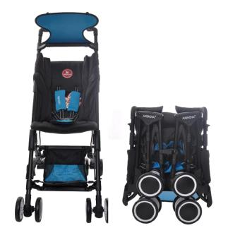Akeeva Aerolite Pocket Stroller (Black/Blue)