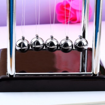 Allwin Newton's Cradle Fun Steel Balance Ball Physics Science Desk Toy Accessory Gift - picture 2