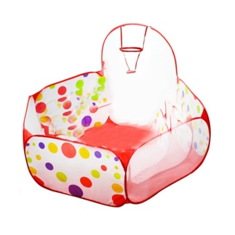 Allwin Polka Dot Pattern Foldable Kids Play House Tent Outdoor&Indoor Basketball Tent Multicolor - intl - 4