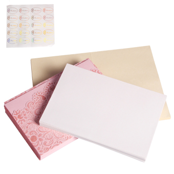 Andux 20 pcs/set Wedding Engagement Invitations Kits JHQJ-01 (Pink)