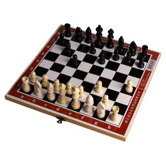 Andux Folding Wooden Chess Set Standard Travel International Chess Game Board Set GJXQ-01 - intl