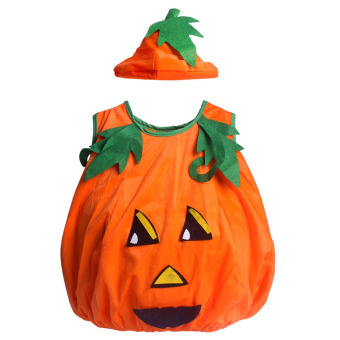 Andux Halloween Cosplay Children Pumpkin Costume SS-NGY01 Orange