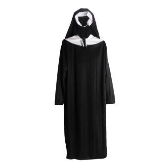 Andux Women's Cosplay Nun Costume SS-XNF01 Black