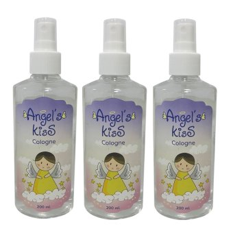 Angel's Kiss Baby Cologne 200ml Set of 3 (White)