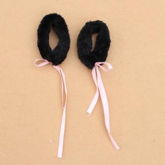 Animal Cosplay Wristbands Bracelet Handwear Christmas Halloween Costume Accessory (Black) - picture 2