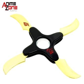 ANIME Naruto Shippuden Shuriken Fidget Spinner Gyro Metal FingerSpinner Gold Black