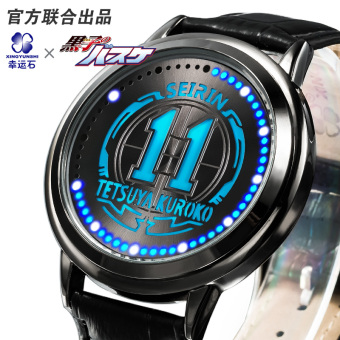 Anime peripheral Kuroko's basketball lucky stone led waterproof watch