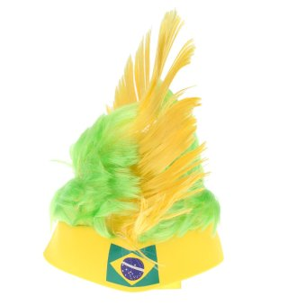 ANSELF Brazil Flag Football Soccer Fans Wig Cockscomb European CupFIFA World Cup Sports Carnival Festival Cosplay Costume Price Philippines
