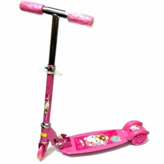 AS FORTUNE Ride-on Push Scooter for Kids with Laser Wheel(Pink)
