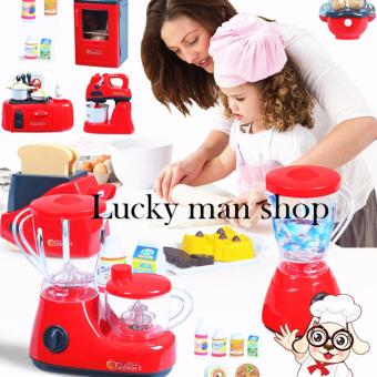 AS SEEN ON TV BIG 21pcs Kids Children Babies Kitchen Cooking Toy Play Set with Light and Sound Educational Learning Toy Red