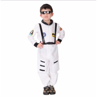 Astronaut Costume Boys Size Medium Age 4-5 years old Spaceman Jumpsuit Halloween Costume