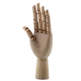 Aukey 18X6cm Wooden Artist Articulated Left Hand Manikin Model