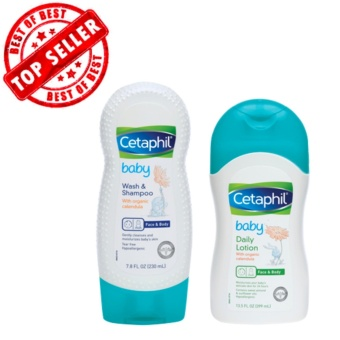 Authentic Cetaphil Baby Set (Daily Lotion 400ml/Gentle Wash &Shampoo 230ml)