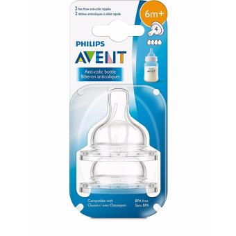 Avent Classic Feeding Bottle Fast Flow Nipple Pack of 2