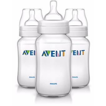Avent Classic Plus 11oz 3 Bottle Pack - Clear