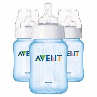 Avent Classic Plus 9oz 3 Bottle Pack - Blue