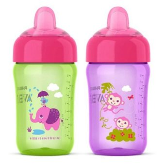 AVENT My Sip N Click Cup, Green/Purple, 12 Ounce Price Philippines