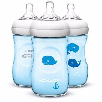 Avent Natural 9oz 3 bottle pack - Whale