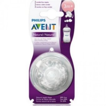 Avent Natural Feeding Bottle Variable Flow Nipple Pack of 2