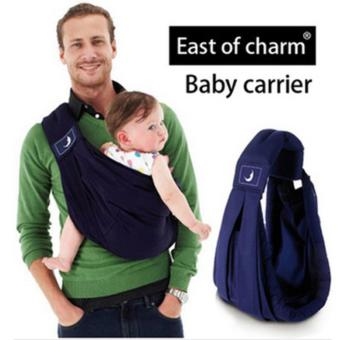 Baba Sling Baby Carrier High Quality Organic Cotton Baby BackpackCarrier Anti-skidding Sponge Baby Suspenders - intl
