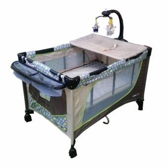 Baby 1st Crib (510DCR) Playpen with Rocking System (Brown)