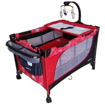Baby 1st Crib (510DCR) Playpen with Rocking system (RED)