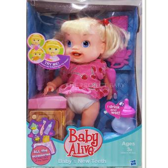 Baby Alive Hasbro Baby's New Teeth drink and wet