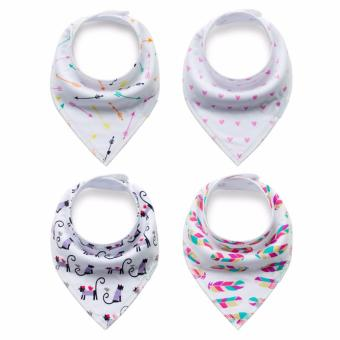Baby Bandana Drool Bibs for Drooling and Teething 4 Pack Gift Set For Boys and Girls - intl