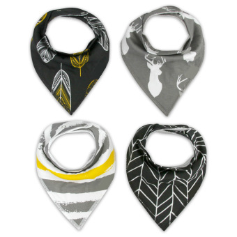 Baby Bandana Drool Bibs for Drooling and Teething 4 Pack Gift SetFor Boys and Girls - intl
