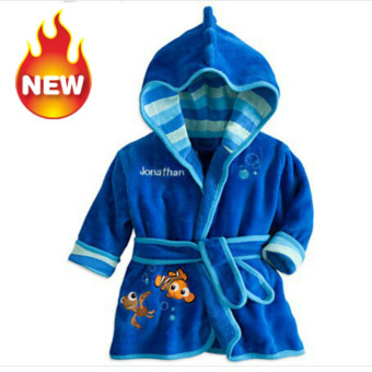 Baby Bathrobe Children Pajamas Baby Homewear Blue Price Philippines