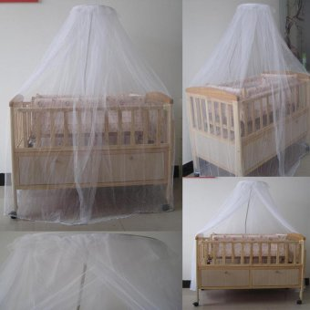Baby Bed Mosquito Mesh Dome Curtain Net for Toddler Crib Cot Canopy- intl