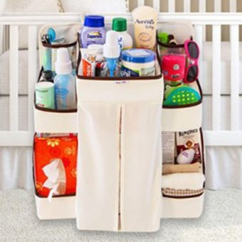 Baby Bedding Set Cribs Hang Bags Storage Bag Organizer Hanging Up Baby Diaper Nappy Pockets Babies Receive - intl