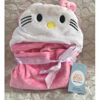 Baby Blanket (Pink). Super-Soft Microfiber Fleece in Animal Designs. Soft Enough for Swaddle/Receiving Wrap, Sturdy Enough for Years of Toddler Cuddles. 76cmx92cm + Hood