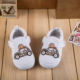 Baby Boys and Girls small white shoes children's canvas shoes