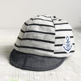 Baby Boys Girls Striped Anchor Lucky Hat Infant Newborn Kids Cap -intl