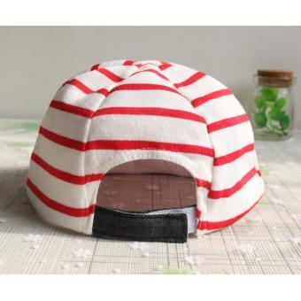 Baby Boys Girls Striped Anchor Lucky Hat Infant Newborn Kids Cap - intl - 5