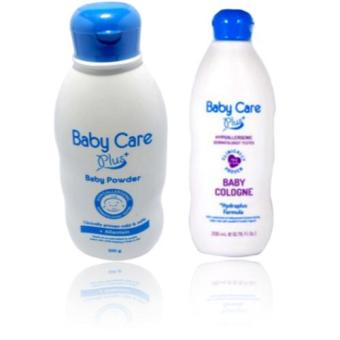 Baby Care Plus Baby Powder 200g with Allantoin And Baby Care PlusBaby Cologne 200ml with Hydraplus Formula