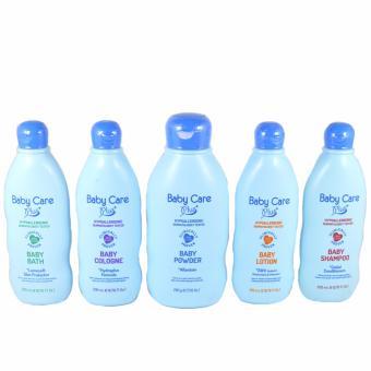 Baby Care Plus Blue Baby Essentials 200mL 5pcs Set