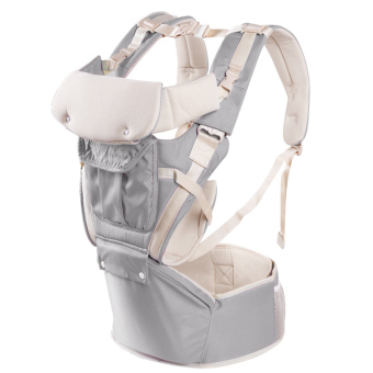 Baby Carrier with Hip Seat Multifunction Outdoor Kangaroo Baby Carrier Sling Backpack New Born Baby Carriage Hipseat Baby Sling Wrap Summer and Winter - intl
