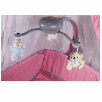 Baby City Play yard Play Pen and Crib with Net (Pink) - 5