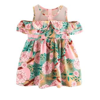 Baby Dress Birthday Dress Kids Dress Floral Off Shoulder DressFloral Cotton Photgraphy Casual Summer Dress
