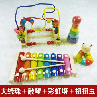Baby early childhood Yi Zhi eight sound small Mu Qin hand knock piano
