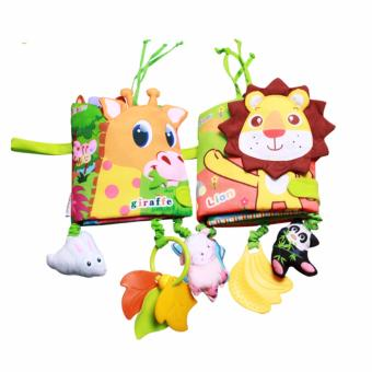 Baby Funny Mobile Cloth Book Educational Animal Crib Bed AroundToys(Lion) - intl - 3