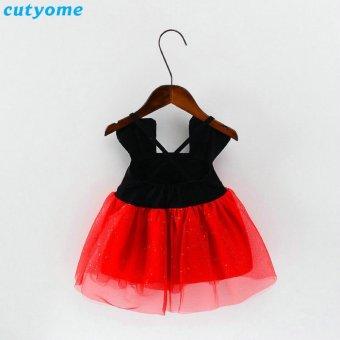 Baby Girl 1 Year Birthday Wedding Lace Dress Summer 2017 InfantilNewborn Princess Girl Dresses Clothes 7-24M - intl - 2